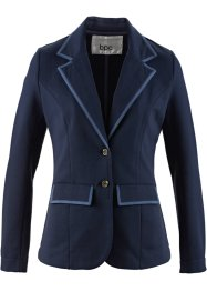 Blazer in felpa, bpc bonprix collection, Blu scuro / indaco