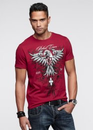T-shirt slim fit, RAINBOW, Rosso scuro