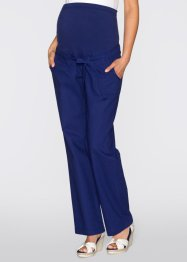 Pantalone prémaman in misto lino, bpc bonprix collection, Blu notte