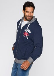 Giacca di felpa regular fit, John Baner JEANSWEAR, Blu scuro