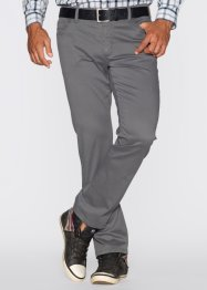 Pantalone 5 tasche elasticizzato slim fit, bpc bonprix collection, Grigio fumé