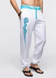 Pantalone in felpa slim fit, RAINBOW, Bianco