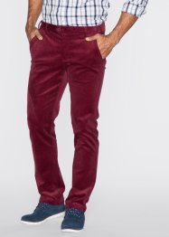 Pantalone in velluto elasticizzato slim fit straight, bpc bonprix collection, Bordeaux