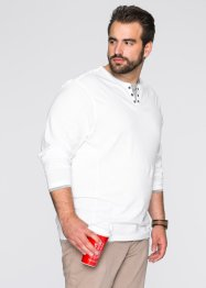 Maglia a manica lunga 2 in 1 regular fit, bpc bonprix collection, Bianco