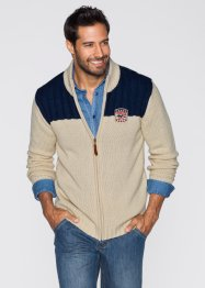 Cardigan regular fit, John Baner JEANSWEAR, Beige