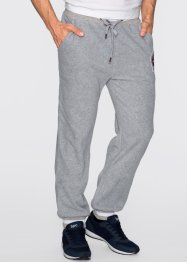 Pantalone di pile regular fit, bpc bonprix collection, Grigio chiaro melange