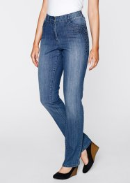 Jeans elasticizzato con borchie, bpc bonprix collection, Blu stone