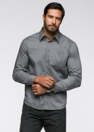 Camicia a manica lunga regular fit, bpc bonprix collection, Grigio fumé
