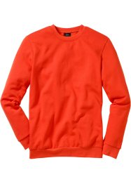 Felpa regular fit, bpc bonprix collection, Rosso aranciato
