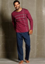 Pigiama, bpc bonprix collection, Blu scuro / bordeaux