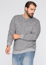 Pullover regular fit, bpc bonprix collection, Grigio fumé / bianco melange