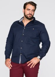 Camicia a manica lunga regular fit, bpc bonprix collection, Blu scuro