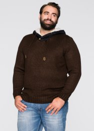 Pullover con cappuccio regular fit, John Baner JEANSWEAR, Marrone scuro
