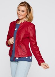 Giacca in similpelle, bpc bonprix collection, Rosso scuro