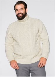 Pullover dolcevita regular fit, bpc bonprix collection, Ecru