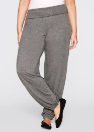 Pantalone in maglina, bpc bonprix collection, Grigio melange