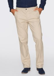 Pantalone chino elasticizzato regular fit diritto, bpc selection, Beige