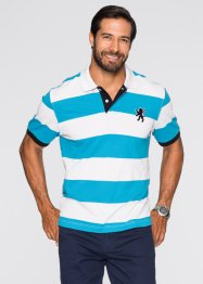 Polo regular fit, bpc selection, Turchese / bianco a righe
