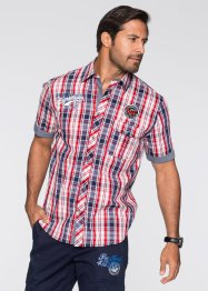 Camicia a manica corta regular fit, bpc bonprix collection, Rosso a quadri