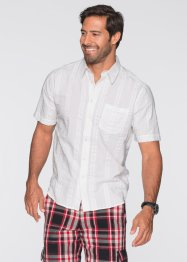 Camicia in seersucker regular fit, bpc bonprix collection, Bianco
