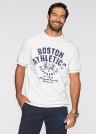 T-shirt regular fit, bpc bonprix collection, Bianco