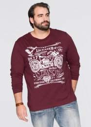 Maglia a manica lunga regular fit, John Baner JEANSWEAR, Bordeaux