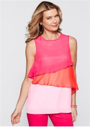 Blusa in chiffon, bpc selection, Fucsia scuro