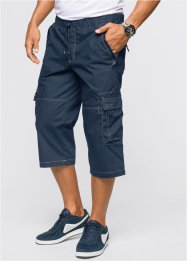 Pantalone 3/4 loose fit, bpc bonprix collection, Blu scuro
