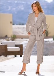 Pantalone in misto lino, bpc selection, Pietra