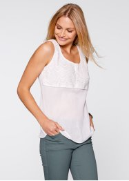 Blusa senza maniche, bpc bonprix collection, Bianco