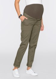 Pantalone chino prémaman, bpc bonprix collection, Verde oliva scuro