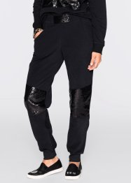 "Joggingpants con paillettes  ""Marcell von Berlin for bonprix"", Marcell von Berlin for bonprix, Nero"