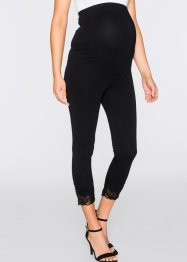 Leggings prémaman con pizzo, bpc bonprix collection, Nero