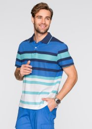 Polo regular fit, bpc selection, Blu / verde / bianco a righe