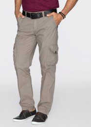 Pantalone cargo leggero regular fit straight, bpc bonprix collection, Pietra