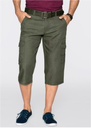 Pantalone cargo 3/4 regular fit diritto, bpc bonprix collection, Verde oliva