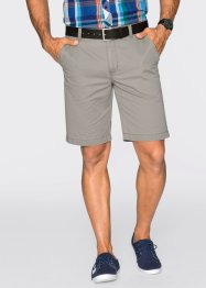 Shorts chino regular fit diritto, bpc bonprix collection, Pietra