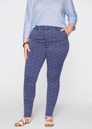 Leggings di jeans Maite Kelly, bpc bonprix collection, Blu stone / bianco fantasia