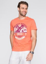 T-shirt regular fit, bpc bonprix collection, Salmone stampato