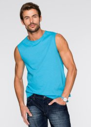 Canotta (pacco da 3) regular fit, bpc bonprix collection, Bianco + turchese + nero