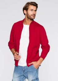 Giacca in felpa regular fit, bpc bonprix collection, Rosso scuro