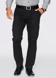 Pantalone cargo regular fit straight, bpc selection, Nero