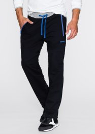 Pantalone in felpa regular fit, bpc bonprix collection, Nero