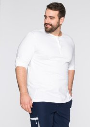 Maglia a manica lunga regular fit, bpc bonprix collection, Bianco
