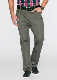 Pantalone elasticizzato classic fit straight, bpc bonprix collection, Verde oliva scuro