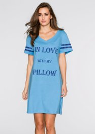 Camicia da notte, bpc bonprix collection, Blu stampato