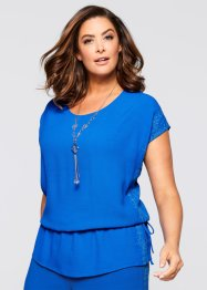 Blusa con ricamo, bpc selection, Bluette / turchese