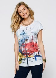 T-shirt, bpc selection, Bianco / stampa multicolore