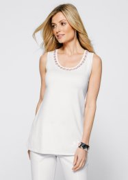 Top in maglia, bpc selection, Bianco panna