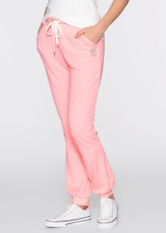 Pantalone lungo in maglina, bpc bonprix collection, Rosa neon melange